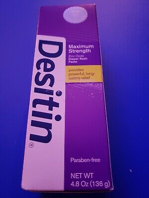 Desitin Maximum Strength Original Diaper Rash Paste, 4.8 Ounce exp 8/20