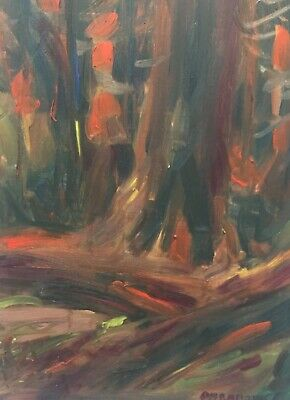 """CANADIAN listed artist IMPRESSIONISM Oil Painting Justin Obradovic """"BC Tofino"""""""