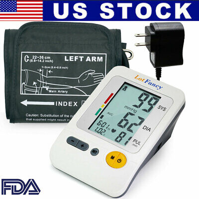 Digital Arm Blood Pressure Monitor Heart Rate Sphygmomanometer Machine Gauge Kit