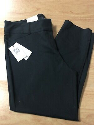 Brand New Ivanka Trump Women's Dress Pants Black Size 16x28 Slim Ankle Length
