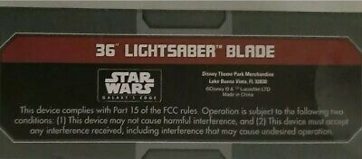 "NEW SEALED Disney Star Wars Galaxy's Edge Legacy 36"" Lightsaber Saber Blade"