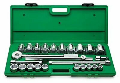 """SK PRO TOOLS 4725 3/4"""" Drive 12 Point 7/8-Inch to 2-1/4-Inch Ratchet Socket Set"""