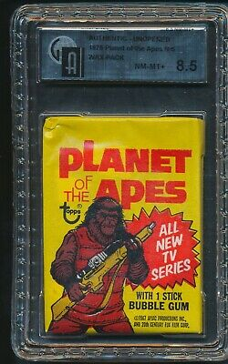 1975 Topps Planet of the Apes Non Sports N/S Unopened Wax Pack GAI 8.5 NM-MT+