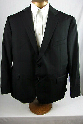 Nice 48S Stafford Suit Coat / Blazer In Black All Wool Sp754