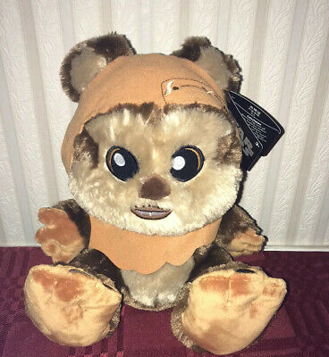 "Disney Parks Star Wars Wicket Ewok Big Feet 10"" Plush New with Tags"