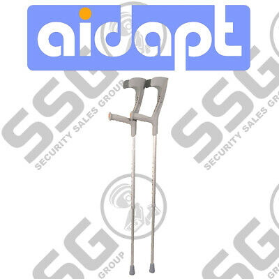 Aidapt Deluxe Patterned Forearm Crutches (Pair) Grey Design