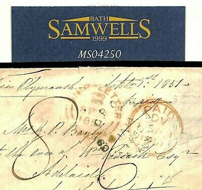 GB Cover 1851 South Australia Mail Per *SHIP-LETTER LONDON* Cross-Written MS4250