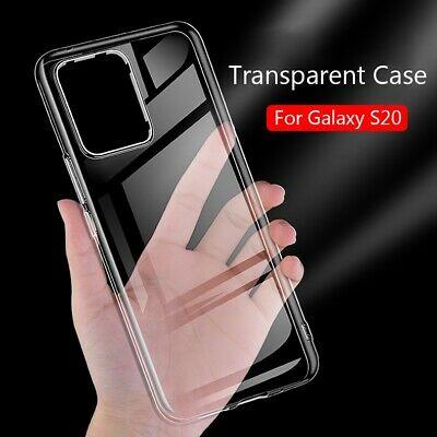 For Samsung Galaxy S20/Plus/Ultra Phone Case Cover Soft TPU Silicone Transparent