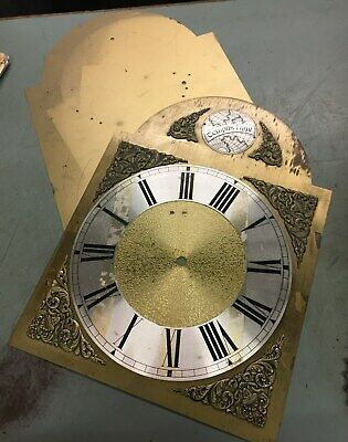 Longcase Clock Dial Plate, Chapter Ring and Back Plate