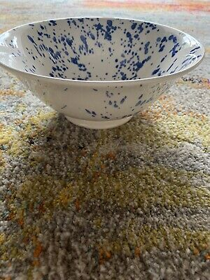 Emma Bridgewater Blue Splater Liberty Of London Footed Serving Bowl 1st