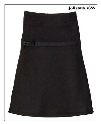 Girls Black Embellished A-Line School Skirt 3 to 6 Years School Uniform BNIP
