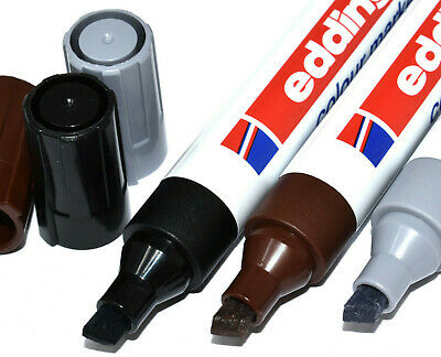 Edding 9 Colour Touch Up Markers Pens Frame Moulding Black Grey Silver Brown