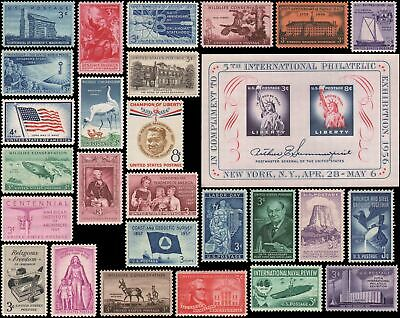 US #1073-1099 MNH 1956-1957 commemorative year set of 28 stamps