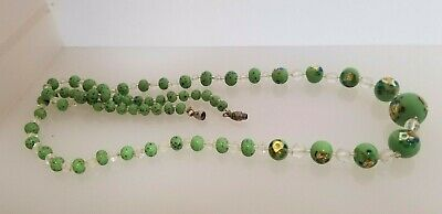 Ladies Old Glass Bead Necklace