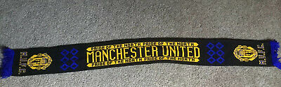 Manchester United Rare 90's 3rd Kit Football Scarf. FREE POST