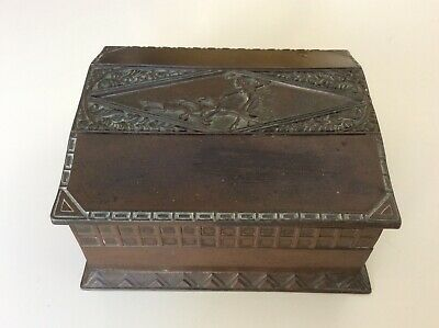 ART DECO CIGARETTE/TRINKET BOX, Bronze Metal - AUTHENTIC ITEM