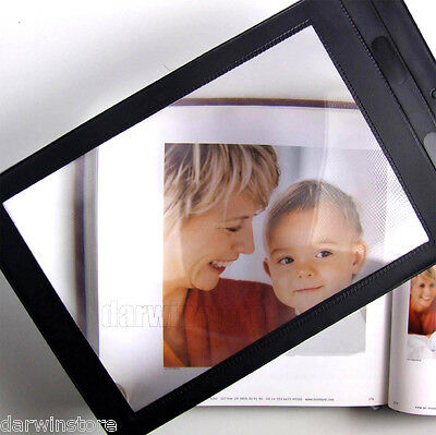 A4 Full Page Magnifier Sheet LARGE Magnifying Glass Reading Aid Lens 3X Big