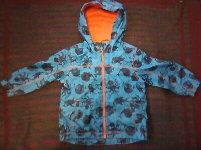 Lovely Next kids raincoat age 3-4 .. with blue octopus fish ocean design.