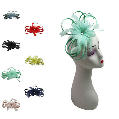 SMALL Fascinator Wedding Hat Floral Detailing Royal Ascot Race Headband Clip UK
