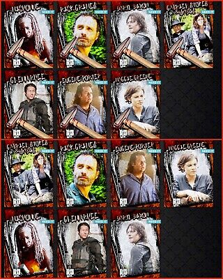 TWD RUSTIC WAVE 1 HAMMER/RUST CARD SET + AWARD Topps WALKING DEAD DIGITAL TRADER