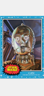 Topps Star Wars Living Set Card C-3Po #73 Star Wars Return Of The Jedi