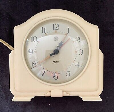 VINTAGE Smiths Sectric Cream Bakelite Alarm Mantle Clock Timer Untested Retro
