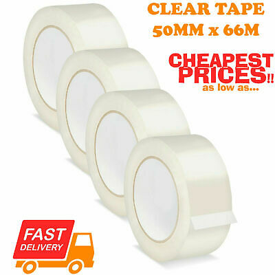 48mm x 132 Metre Heavy Duty Clear Packing Tape Clear Sellotape carton Sealing