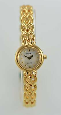 Regency Womens Watch Gold Stainless Steel Water Res Mother of Pearl Batt Quartz