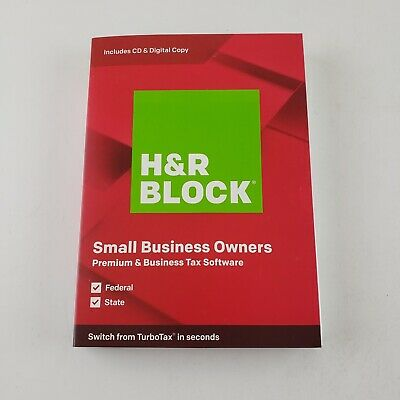 *NEW* H&R BLOCK Tax Software Premium & Business 2019 WINDOWS ONLY 8.1/10