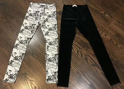 Abercrombie & Fitch Kids Lot Of 2 Leggings Size JR XS and Kids LG Floral Velvet