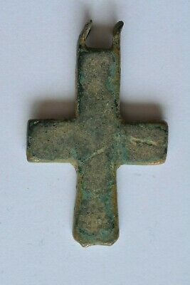 Byzantine bronze cross encolpion 6th century AD.