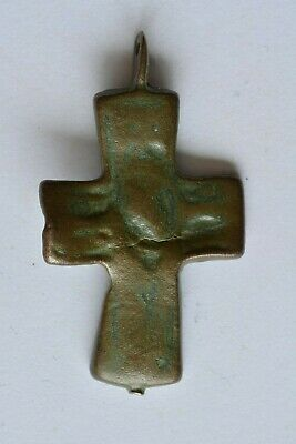 Byzantine bronze cross encolpion Jesus Christ 6th century AD.