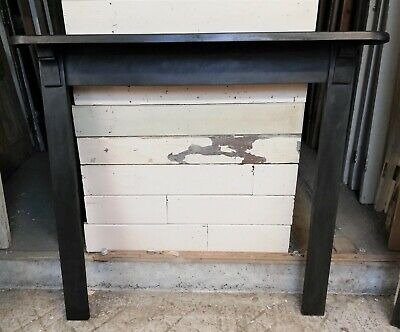 AN INDUSTRIAL STYLE RECLAIMED CAST IRON FIRE SURROUND FOR WOOD BURNER ref FS0100