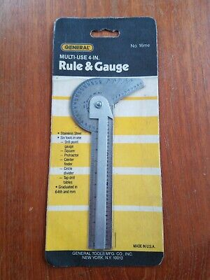 General tools no.16me multi use 4 in 1 Rule & Gauge