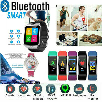 Fitness Tracker Smart Watch Pedometer Heart Rate Blood Pressure Monitor Sport`