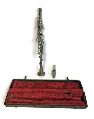 Antique American Beauty Clarinet W/ Case Musical Band Instrument