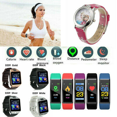 Fitness Tracker Smart Watch Pedometer Heart Rate Blood Pressure Monitor Sport-