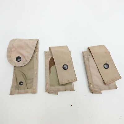 Lot of 3 Desert Camo Pouches MOLLE II Groogie Mag Pouch DCU