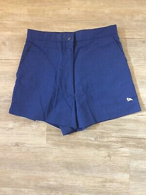 "Vtg 70s 80s Spalding TENNIS SHORTS Blue Women High Waist 2.75"" Inseam"