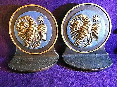 Cast Iron Rounded American Eagle Bookends