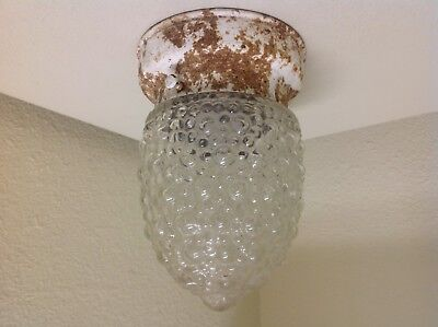 Vintage Mid Century  Modern  Porch / Hallway / Kitchen Light Fixture Sconce