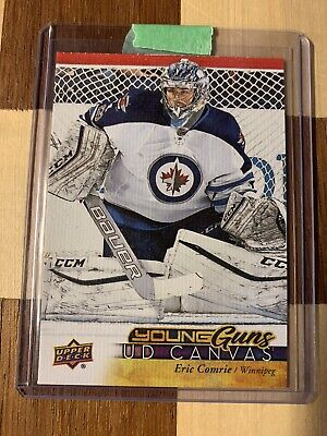 Eric Comrie 2017-18 Upper Deck UD Canvas Young Guns C218 Winnipeg Jets Rookie