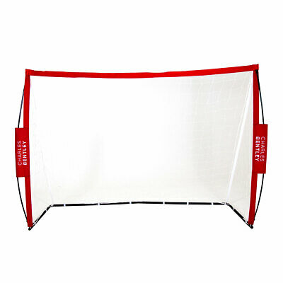 Charles Bentley Football Kick Goal in Red - Portable Foldable - 7 x 5 ft
