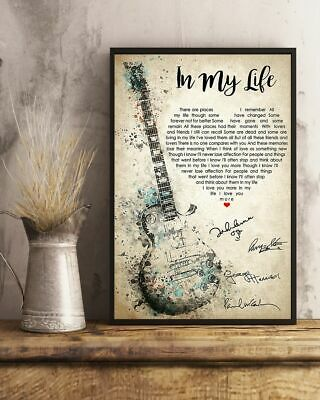 In My Life Lyric song The Beatles Remaster gift poster Home Wall [No Framed]