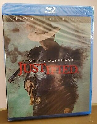 JUSTIFIED Season 4 Blu-Ray - Timothy Olyphant - Sealed/New