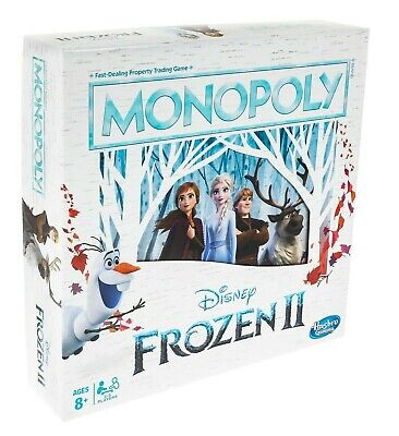 BRAND NEW! Monopoly Game: Disney Frozen 2 Edition Board Game for Ages 8 and Up