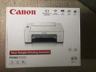 BRAND NEW WITH INK Canon Pixma TS3122 Wireless All-in-One Inkjet Printer