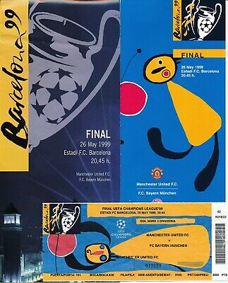 TICKET: UEFA CHAMPIONS LEAGUE FINAL 1999 Manchester United v Bayern + extras