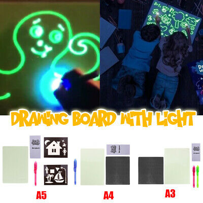 Educational Light Up Drawing Board Draw Sketchpad Board Kids Developing Toy Pad