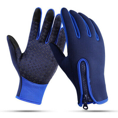 AU Mens Winter Warm Windproof Thermal Touch Screen Gloves Warm Ski Cycling Mitts